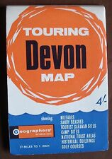 1950s/60s Geographers' Touring Map of Devon 2.5 miles /inch Ordnance Survey