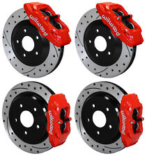 WILWOOD DISC BRAKE KIT,1997-2013 CORVETTE,C-5,C-6,Z06,ROTORS,CALIPERS,PADS,RED