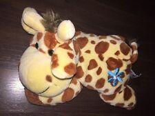 Heunec Kuh Giraffe Kuscheltier Plüschtier Stofftier Schlenker Gelb Braun Blume