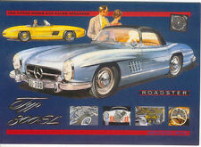 Mercedes Benz 300 SL Large Format MODERN postcard by Jenna