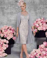 Elegant Silver Lace Woman Formal Outfits Mother of The Bride Party Gowns 2017