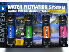 SAWYER Portable Mini WATER Filter FILTRATION SYSTEM Multi Color 4 Pack! SP124