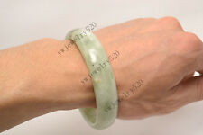 Chinese Natural Beautiful Lavender Green Nephrite Jade Bangle Bracelet FREE