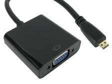 Micro HDMI to VGA & Audio Converter with Cables - Converts digital to Analogue
