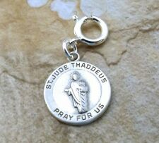 Sterling Silver St. Jude Thaddeus Charm fits Euro & Link Charm Bracelets - 3074