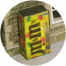OO SCALE GAUGE M&M SNACK SWEETS VENDING MACHINE HORNBY MODEL RAILWAY STATION
