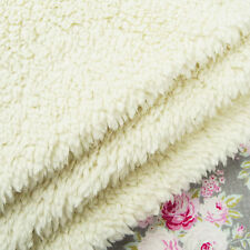 Ivory Lamb Fleece Cuddle Fabric / sherpa fur doll bear cream white toy sheep