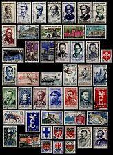 L'ANNÉE 1958 Complète, Oblitérés = Cote 48 € / Lot Timbres France 1142 à 1188