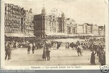 Ostende - Hotels - La Digue  animated Oostende 1927 Postcard