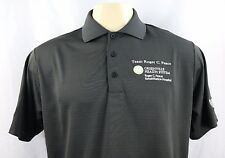 NWT Adidas Team Roger C. Peace Embroidered Men's Short Sleeve Polo Shirt Sz M