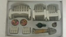 Dollhouse Miniture Wooden Garden White Furniture