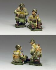 KING AND COUNTRY WW2 U.S. Kneeling and Sitting Paratroopers 82nd. D Day DD266-1