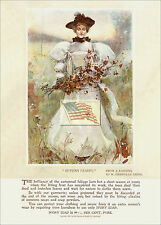 REPRINT PICTURE of old IVORY SOAP ad 1897 autumn leaves harper's magazine 5x7