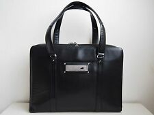 BRAUN BUFFEL BLACK LEATHER DOCUMENT BAG