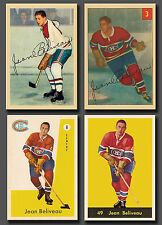 Jean Beliveau 4 card lot Reprint , #27 Rookie Card included, 4 different years