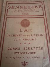 catalogue l'art de repoussé le cuivre et l'étain ( ref 8 )