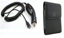 Car Charger+Case for Straight Talk /Tracfone/Net110 LG 236C LG236c, 440g LG440g