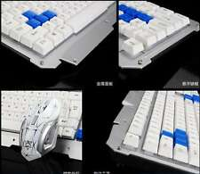 Metal pane Gaming wireless Keyboard with 104 Mechanical Feel Hybrid Keys