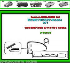 VW Käfer Scheibengummi Zierleisten Chrom Keder 4tlg 12/1300/1302 8/71-77  # 316