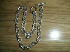 """HEAVY 925, STERLING SILVER T/BAR NECKLACE / NECKCHAIN"""" 34.52.GMS,"""