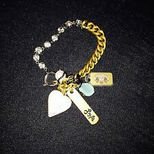 JUICY COUTURE VINTAGE WITH CRYSTALS AND CHARMS RRP£65 NOW £26.95