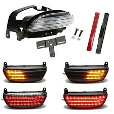 Tri-Bar Fender LED Tail Light Turn Signals+Bracket For Harley Dyna FXDF 2008-up