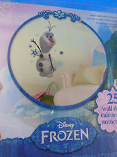 Disney FROZEN OLAF snowman wall stickers decals snowflakes winter party decor