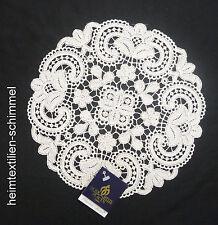PLAUENER SPITZE ® Tischdecke Tischdeckchen Deckchen Decke ALLZEIT creme 22cm