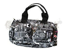 NEW HEART FLOWER GUITAR PRINTED FUNKY SHOULDER BAG GOTH PUNK EMO