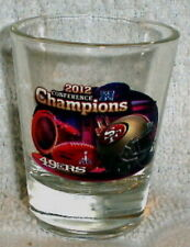 San Francisco 49ers 2012 NFC CHAMPS SHOT GLASS SUPER BOWL 47 XLVII SF 49ERS