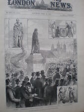 Unveiling the Disraeli Lord Beaconsfield Statue Westminster London 1883 print
