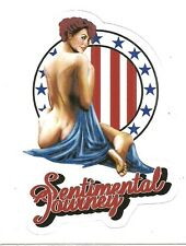 SENTIMENTAL JOURNEY NOSE ART PIN UP GIRL    Sticker Decal