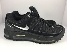 NIKE Max Air Running Men US 7 Black + Silver Comfort Performance Athletic Shoes
