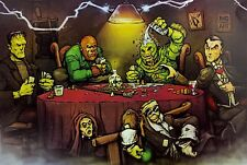 MONSTERS PLAYING POKER - POSTER 24x36 - FUNNY 52007