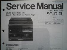 PANASONIC SG-D10L Stereo Music Centre unit Service manual wiring parts diagram