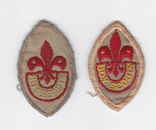 195-60's CANADA SCOUTS - CANADIAN BOY SCOUT TENDERFOOT RANK AWARD BADGE (2 VAR)