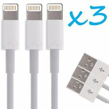 3x OEM Apple iPhone 6S 7 Plus 5S Lightning Charger Cable Charging Data Sync Cord