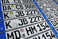 ORIGINAL German License Plate Audi BMW Mercedes Benz Porsche VW Fiat Saab Volvo-
