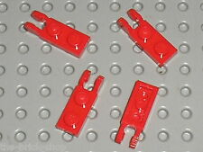 4 Charnieres Lego Red Hinge Plate ref 44302 / set 8654 8157 8142 6753 10181 8671