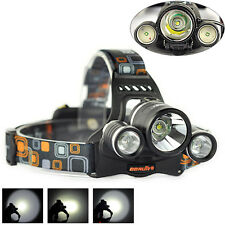 10000LM 3xXM-L T6+2R5 LED 18650 Headlamp Headlight Flashlight Torch Rechargeable