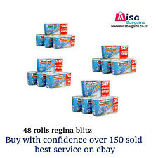 Regina Blitz 3 Ply Kitchen Towel Paper Rolls  48 Rolls cheapest OFFER bulk buy