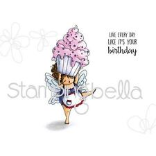 New Stamping Bella Cling Rubber Stamp EDNA FAIRY CUPCAKE BIRTHDAY S free us ship