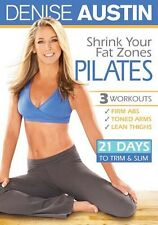 Pilates EXERCISE DVD - Denise Austin SHRINK YOUR FAT ZONES PILATES - 3 Workouts!