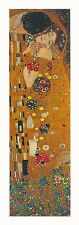 GUSTAV  KLIMT - The Kiss - ART PRINT Foil & Metallic Ink Highlights Poster 39x14