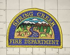 Spring Creek Fire Dept Patch - hook & loop back