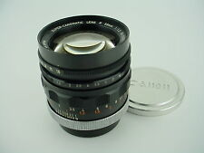 CanonFlex 58mm f/1.2 Super-Canomatic R w/Caps -Gorgeous Canon Vintage Lens