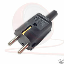 Kaiser Euro Plug Rewireable Schuko. European Heavy Duty Plug Top Connector.