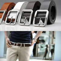 Genuine Leather Belts Alloy Pin Buckle Waistband Men's Waist Belts  NEW
