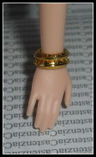 JEWELRY BARBIE CHINESE NEW YEAR DOLL 2 FAUX GOLD CUFF BRACELET FOR  DIORAMA