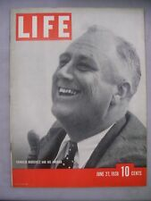 LIFE MAGAZINE JUNE 27 1938 FRANKLIN ROOSEVELT AND HIS AMERICA